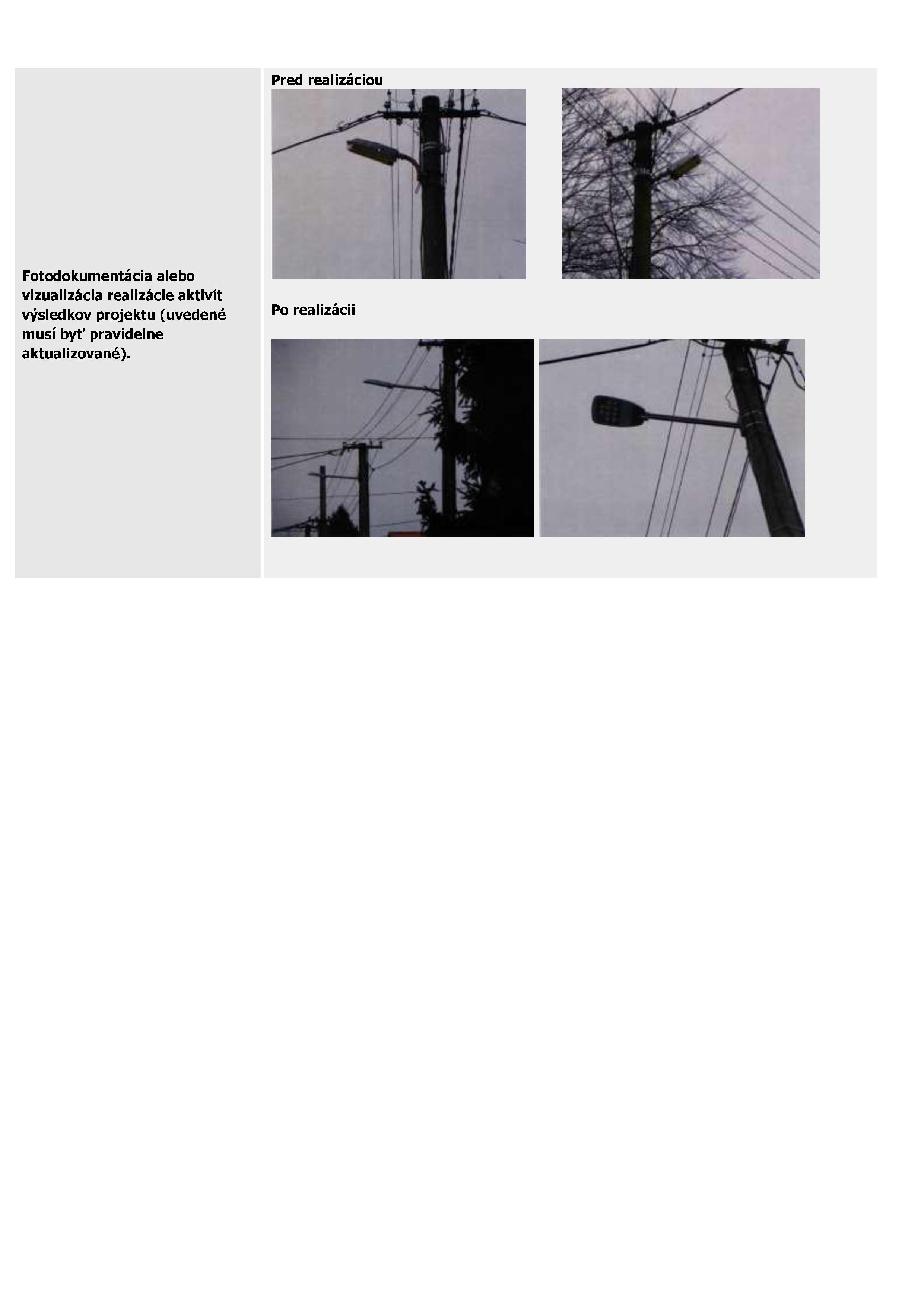 Modernizácia verejného osvetlenia č.2-2