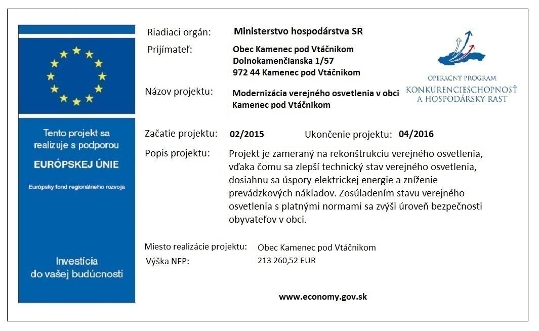 Modernizacia verejného osvetlenia č.1